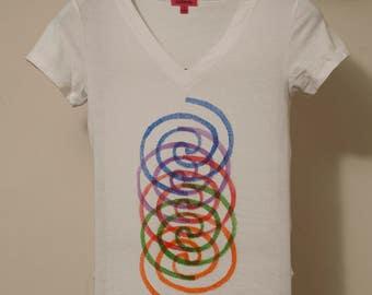 Celtic Spiral V- Neck T Multi