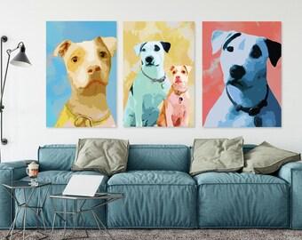 Custom dog Portrait, Pop art portrait, Portrait from photo, Custom pet portrait, Pop art pet portrait, Custom dog pop art, Dog memorial