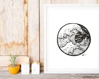 Wave Off Kanagawa Artwork