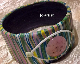 light-emitting polymer clay bracelet multicolor