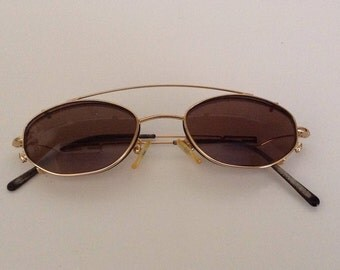 Vintage Fendi Eyeglass Frames With Clip-On Shades, Steampunk Style