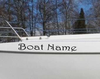 Custom Boat Name Sticker Vessel Decals Lettering Jet Ski DECAL