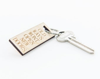 Wood gift wife, Keyring, Keychain, Key ring for her, Keyring wooden, Small gift wood, Small gift for him, Keyring for her, Keyring wood gift