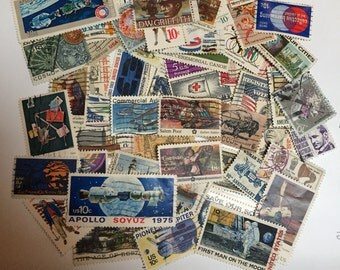 Lot of 50 U.S. Postage Stamps
