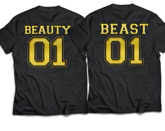 Beauty beast, beauty-and-the-beast-shirt, beauty beast shirts, couples shirts, boyfriend girlfriend shirts.