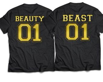 Beauty beast, beauty-and-the-beast-shirt, beauty beast shirts, couples shirts, boyfriend girlfriend shirts.