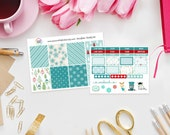 Snowflake Weekly Sticker Kit - Set of 39 Planner Stickers perfect for Erin Condren Life Planner, Kikki K, Filofax Planner etc - Winter