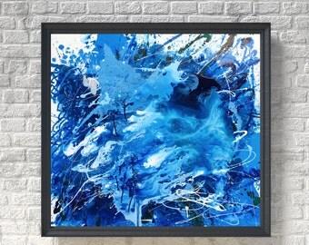 Blue Abstract Art Blue Painting Blue Ocean Art Blue Wall Art Contemporary Art Modern Art Abstract Painting Home Decor Art Living Art
