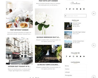 Wordpress blog Theme, Ecommerce Theme Responsive Blog Theme, 17 Layouts - 7 custom pages - Premium Design- Boudicea (Free Installation)