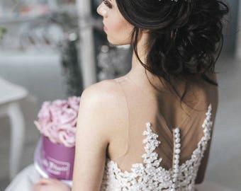 Crystal Wedding Hair Vine, Bridal Hair Piece Crystal Hair Vine, Bridal Crystal Hairpiece, Crystal Wreath