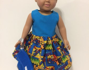 "18"" doll Superman dress"