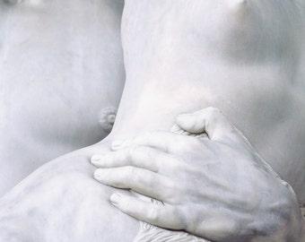 Italian statues, marble statue, nudes, fine art photography, Florence, Italy, Piazza della Signoria, bedroom wall art, romantic, 11x14