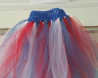Red, White, and Blue Patriotic Tutu with Matching Headband