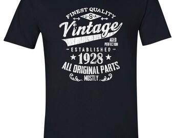 1928 birthday, 1928 shirt, 1928 T-Shirt, 1928, 1928 birthday shirt, Any Year Available V28