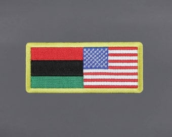 African American Flag Patch