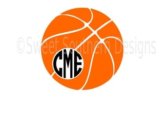 Basketball monogram SVG instant download design for cricut or silhouette