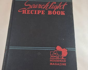 Household Searchlight Recipe Book - 1940s Cook Book - Vintage Cook Book - Vintage Kitchen Decor - 1943 Recipe Book - Household Magazine