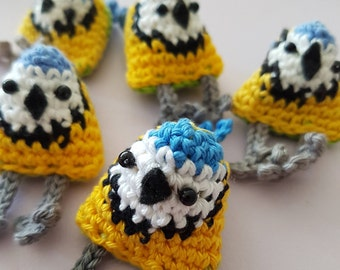 DIY Crochet Kit - Betsy the Bluetit (EN/NL) - makes 3 amigurumi birds!