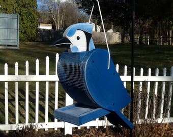 Handcrafted Bluejay Bird Feeder