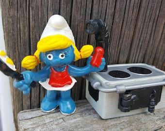 RARE Kitchen Smurfette, Cooking Smurfette, Smurfette Lover Gift, Rare Super Smurf