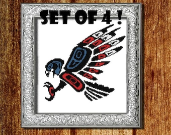 Gift for dad Patriotic gift Cross Stitch Pattern PDF 4 july gift Military gifts Eagle pattern American flag decor Usa pattern Aztec pattern