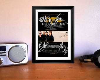 U2 The Joshua Tree Tour Flyer London 9th July 2017 Autographed Signed Photo Print - 2