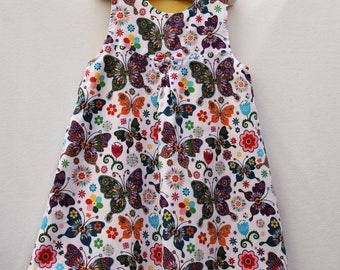 Handmade Butterfly Girl's Pinafore Dress Age 2-3