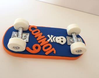 Skateboard Fondant Cake Topper