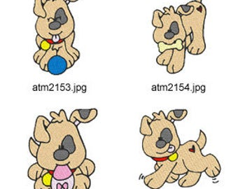Precious-Puppies. ( 7 Machine Embroidery Designs from ATW ) XYZ17C