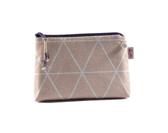 Cosmetic bag cosmetic makeup bag diamond of bright powder-purple