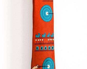 Vintage 1950s Novelty Shooting Carnival Game Neck Tie All Silk VLV Rockabilly