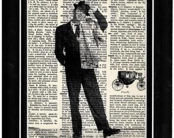 348 Frank Sinatra upcycle art print