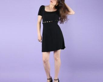 Gorgeous 90s Vintage MOSCHINO LBD Little Black Dress
