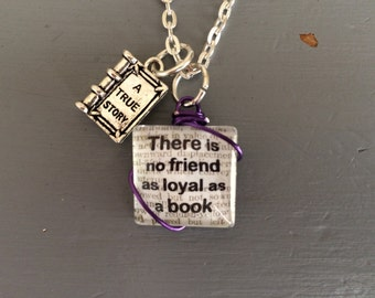 Ernest Hemingway book quote necklace