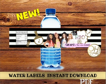 Project MC2 Water labels, Project MC2 Birthday, Project Mc2 party, Project Mc2 birthday party, Project mc2 printable, project mc2