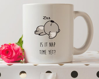 It It Nap Time Yet? Koala Mug | Cute Mugs | Koala Bear Mugs | Fashion Mugs | Contemporary Mugs | Coffee Mug | Funny Quote | Kawaii Mug