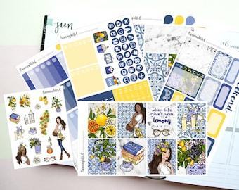 "Lemon/Summer/Lemonade ""When Life Gives You Lemons"" Themed Planner Stickers for Erin Condren, Kikki K, Filofax, Happy Planner, Websters Pages"