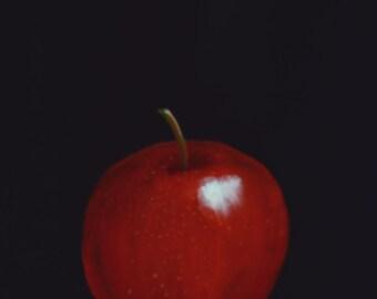 Red Apple  apple paintings  kitchen decor  fruit paintings  still life paintings  art for kitchens