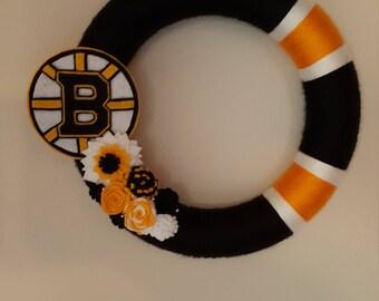 Boston Bruins Hockey Sports Wreath/Decor
