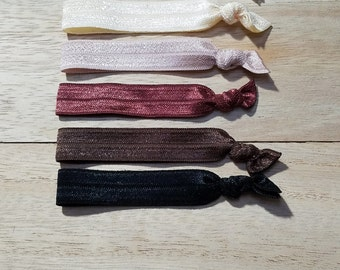 Neutral Colored Hair Ties