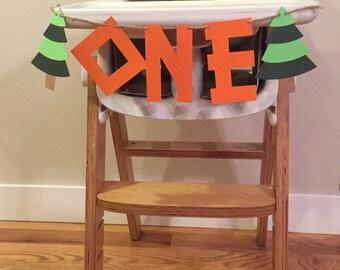High Chair First Birthday Banner