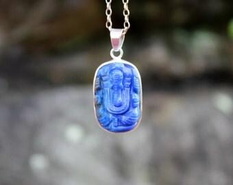 Lapis lazuli ganesha pendant