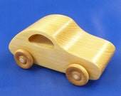 Wooden Car, Hand Made, Hand Finished, Volkswagon, VW Bug, Play Pal, Wide Body, Kids Toy, Toddlers
