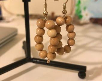Wooden Rings of Time Earrings