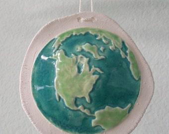Handmade Peace On Earth Hanging Ornament