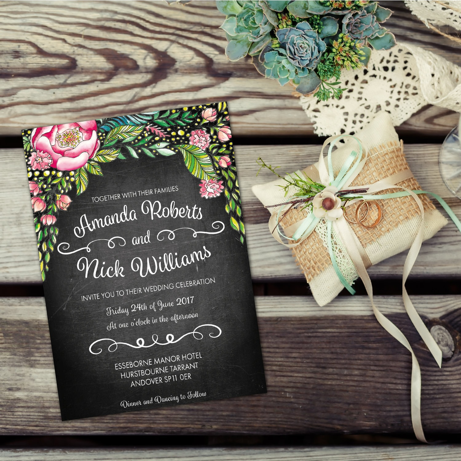 Vintage wedding invitations kits