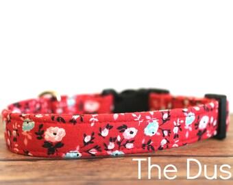 """Boho Dog Collar, Western Dog Collar, Country Dog Collar, Girl Dog Collar, Flower Dog Collar, Chic Dog Collar, Buckle Dog Collar """"The Dusti"""""""