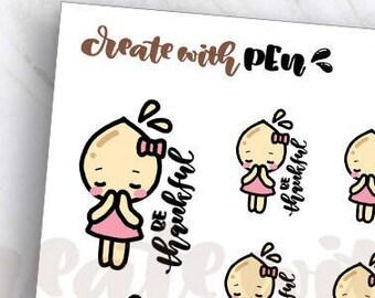 TA64 | Tinta | Be THANKFUL | Planner Stickers