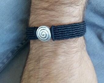 Bracelet of macrame, bracelet man, gift man, gift Christmas man, gift informal man, style boho, macramé jewelry, micromacrame jewelry