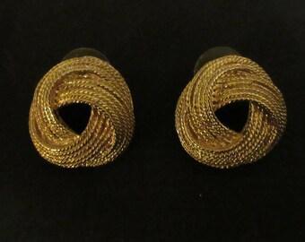 Pair of Rope Design Earrings
